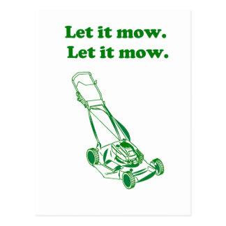 Let it Mow Movie Internet Meme Joke Postcard