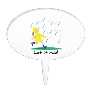 Let It Rain Cake Topper