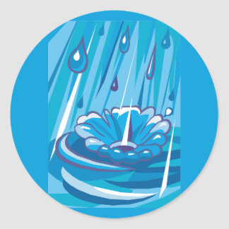 Let It Rain Classic Round Sticker