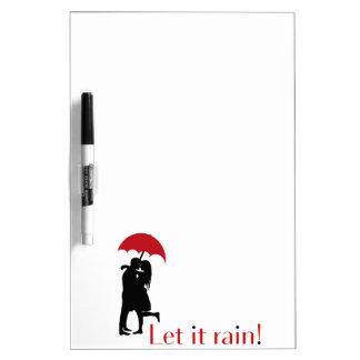 Let it rain! dry erase board