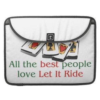 Let it Ride Lover's macbook sleeves