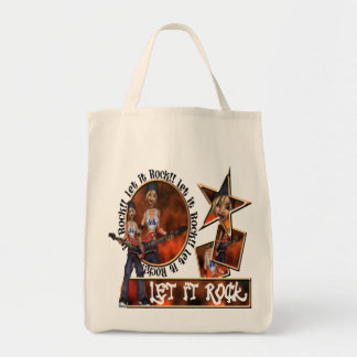 Let It Rock - Organic Grocery Tote