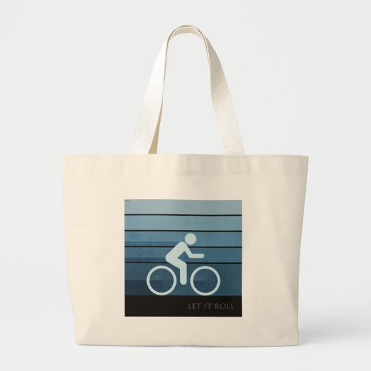 Let It Roll Large Tote Bag