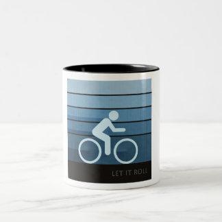 Let It Roll Two-Tone Coffee Mug