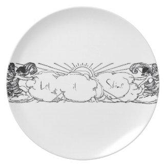 Let it shine vintage fairies plate