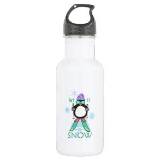 Let It Snow 18oz Water Bottle