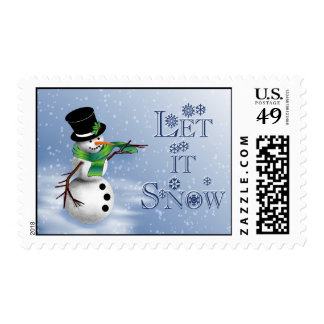 let it snow 2 postage stamp