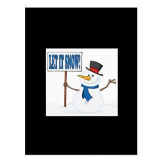 Let It Snow 2 Postcard
