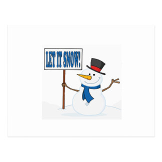 Let It Snow 2 Postcard