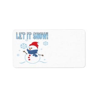 Let It Snow 3 Label