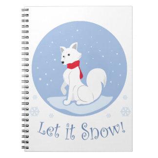 Let It Snow! (Arctic Fox) Notebook