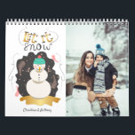 "Let it Snow Artistic Snowman Holiday Calendar<br><div class=""desc"">Retro style snowman with gold accents makes a perfect holiday calendar.</div>"