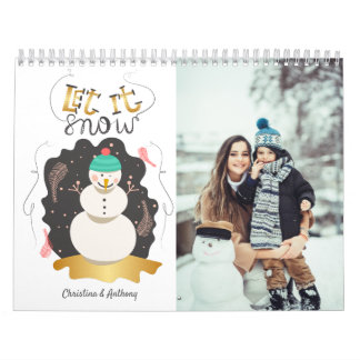 Let it Snow Artistic Snowman Holiday Calendar