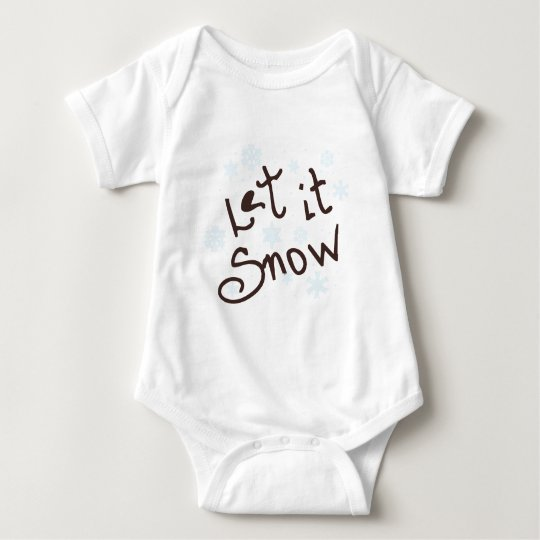 Let It Snow Baby Bodysuit