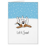 Let it Snow Beagle Holiday - A Snowy Christmas Greeting Cards