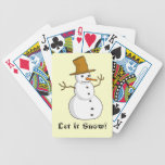 """Let it Snow"" Bicycle Playing Cards Card Deck"