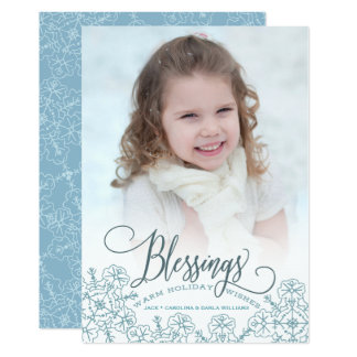 Let It Snow Blessings w/white envelopes included Card