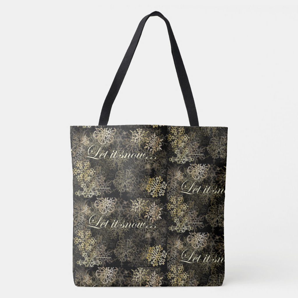 Let It Snow Blue Beach Song™ Tote Bag