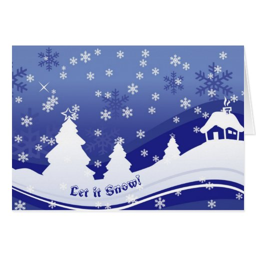 Let it snow! Blue & White Christmas greeting cards