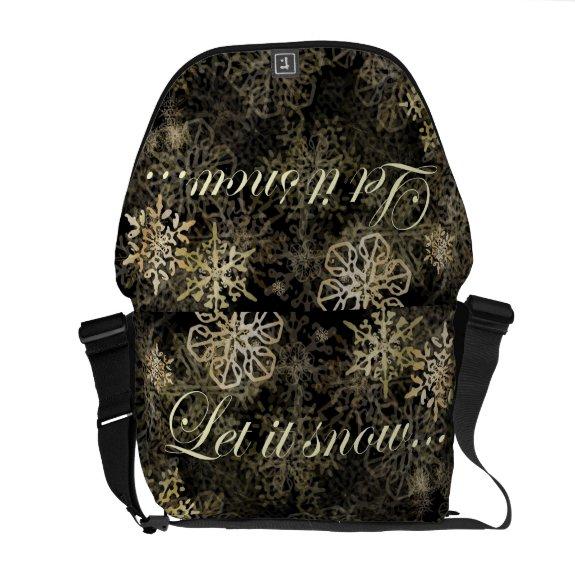 Let It Snow BlueBeachSong™ Rickshaw Messenger Bag