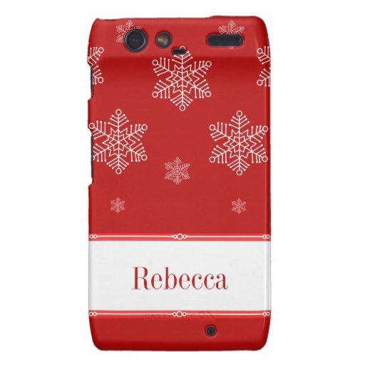 Let it Snow BT Droid RAZR Case, Red