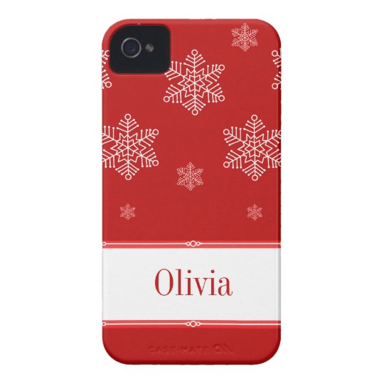 Let it Snow BT iPhone 4 Case, Red iPhone 4 Case