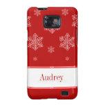 Let it Snow BT Samsung Galaxy S2 Case, Red