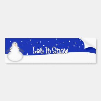 Let it Snow Bumper Sticker Car Bumper Sticker