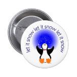 Let It Snow Button Badge