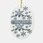 Let it Snow California Christmas Ornament