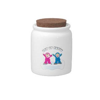 Let It Snow Candy Jar