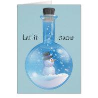 Let it snow card