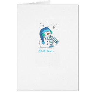 """""""Let It Snow"""" Card"""