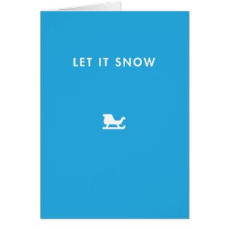 Let it snow ! card