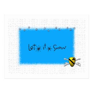 Let It Snow Cav Postcard