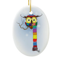 Let it Snow Ceramic Ornament