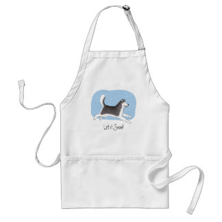 """""""Let it Snow!"""" Cheerful Dog Design Adult Apron"""
