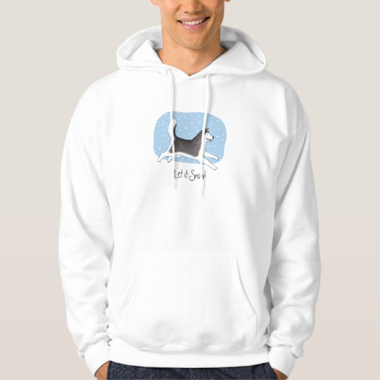 """Let it Snow!"" Cheerful Dog Design Hoodie"
