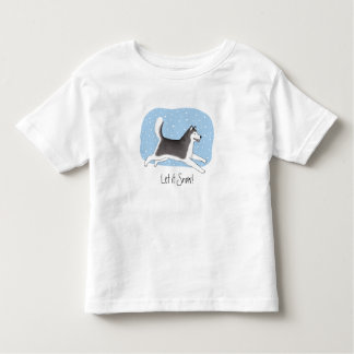 """Let it Snow!"" Cheerful Dog Design Toddler T-shirt"