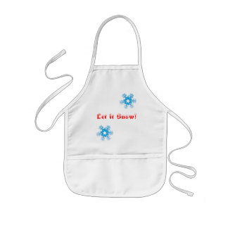 """Let it Snow!"" childrens snowflake apron"