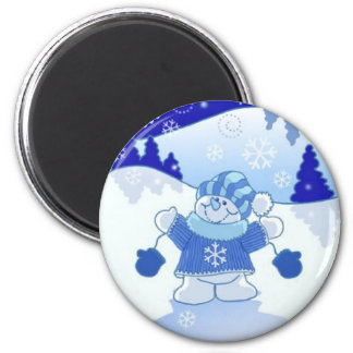 LET IT SNOW CHRISTMAS 2 INCH ROUND MAGNET