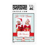 Let It Snow Christmas Greeting Photo Postage Stamp