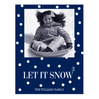 Let It Snow Christmas Holiday Photo Postcard
