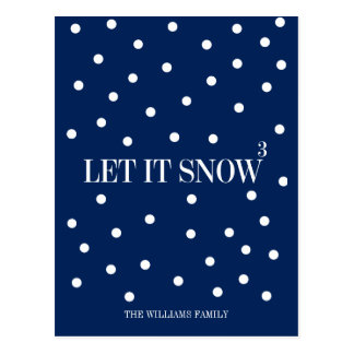 Let It Snow Christmas Holiday Postcard