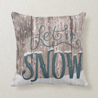 Let It Snow Christmas Holiday Winter Throw Pillow