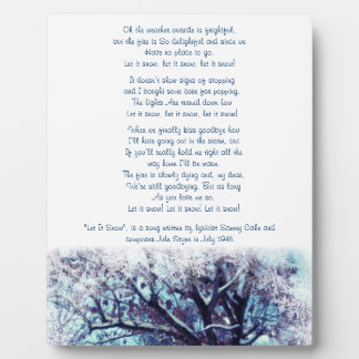 Let it Snow Christmas Keepsake Plaque