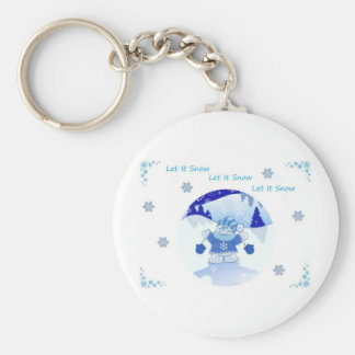 LET IT SNOW CHRISTMAS KEYCHAIN