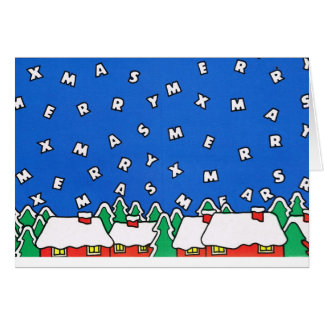 Let it snow!, Christmas letters Card
