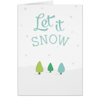 Let it Snow Christmas Stationery Note Card