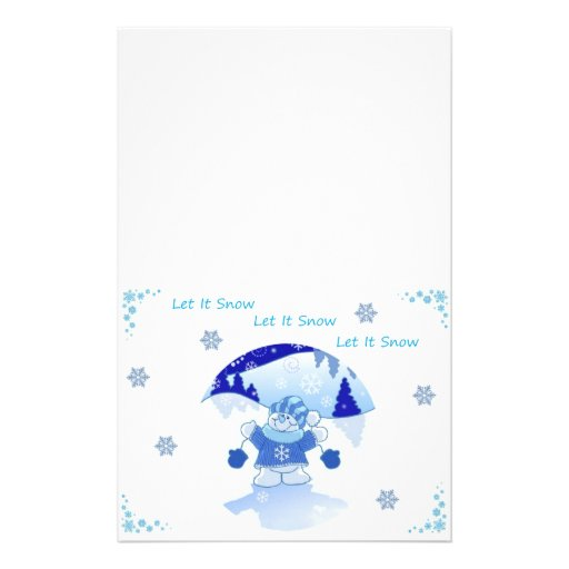LET IT SNOW CHRISTMAS STATIONERY PAPER